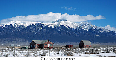 Urban view of Colorado in winter