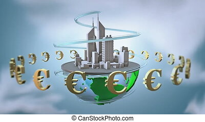 Urban world with euro.