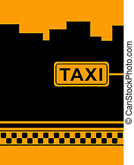 background with cab taxi stop