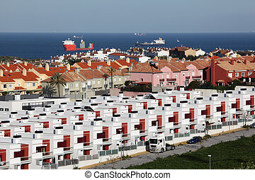 Urbanisation in Algeciras. Province of Cadiz, Andalusia Spain