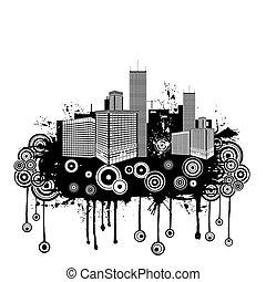 urbano, abstratos, grunge