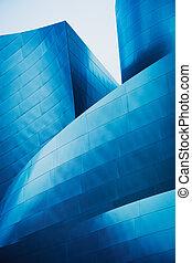 urbano, abstratos, modernos, detalhe, arquitetura