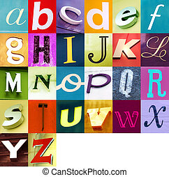 urbano, alfabeto, 2
