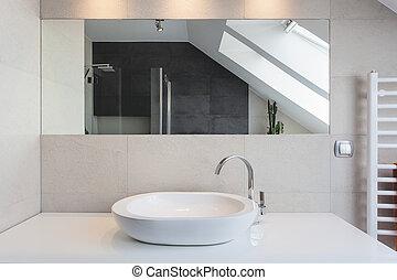urbano, apartamento, mostrador, -, baño