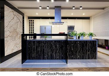 urbano, appartamento, -, nuovo, cucina