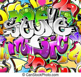 urbano, arte, seamless, fondo., graffito, disegno