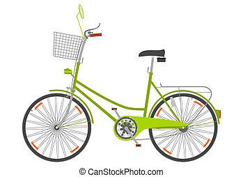 urbano, bike.