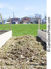 urbano, comunidad, jardín