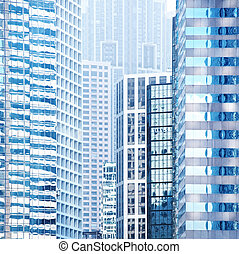 urbano, costruzioni, fondo