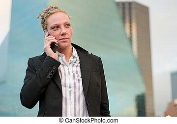 urbano, donna affari, 2