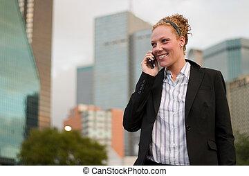 urbano, donna affari, 3