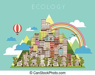 urbano, ecologia, paisagem