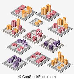 urbano, edifícios, industrial