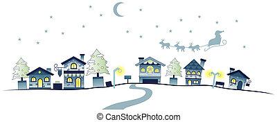urbano, escena navidad