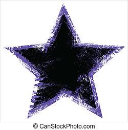 urbano, forma, grunge, estrela