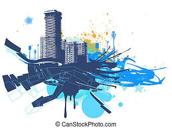 urbano, fundo