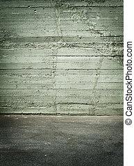 urbano, grunge, stanza, parete, concreto, fondo, vecchio