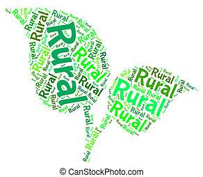 urbano, non, parola, mezzi, backwoods, rurale