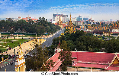 urbano, phnom penh, cambodia., città