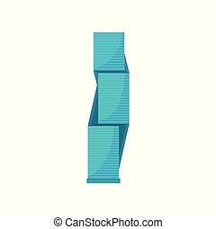 urbano, residencial, moderno, ilustración, elemento, vector, plano de fondo, edificio, blanco, rascacielos, paisaje