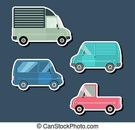 urbano, veículos, tráfego