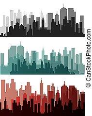 urbano, vector, diseño, illustration.