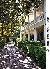 urbano, victoriano, charleston, típico, casa