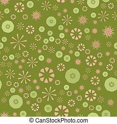 urdidura, childs, fundo, coloridos, têxtil, simples, padrão, abstratos, roupas, seamless, textura, papel, flowers., vetorial, verde, estrelas, geomã©´ricas, circular, design.