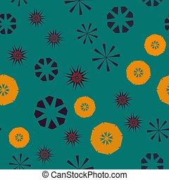 urdidura, childs, fundo, coloridos, têxtil, simples, padrão, abstratos, roupas, seamless, textura, papel, flowers., vetorial, verde, estrelas, laranja, geomã©´ricas, circular, design.
