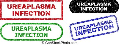 UREAPLASMA INFECTION Rectangle Stamp Seals with Grunge Surface