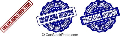 UREAPLASMA INFECTION Scratched Stamp Seals