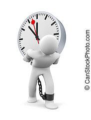 uren, lang, werkende