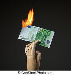 urente, banconota euro