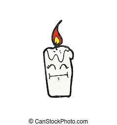 urente, candela, cartone animato