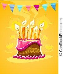 urente, candele, cioccolato, torta compleanno, crema