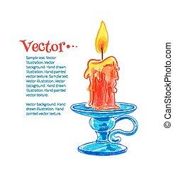 urente, candle.