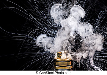 urente, di, elettronico, cigarette., popolare, vaporizing,...
