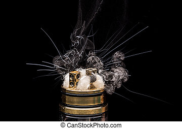 urente, vaporizing, aggeggio, cigarette., e-cig, glicerina, ...