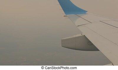 urgence, avion, goutte, secousse