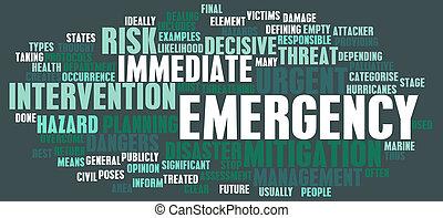urgence, concept