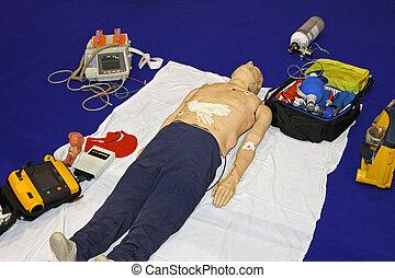 urgence, factice, équipement