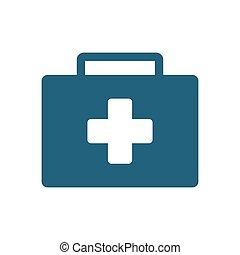 urgence, kit, clinique, valise, aide, premier