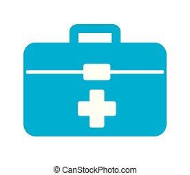urgence, kit médical, aide, urgence, premier