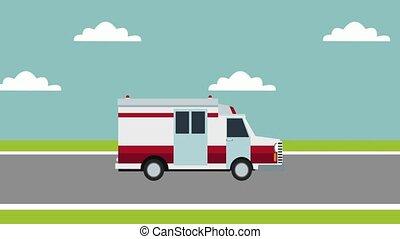 urgence médicale, dessin animé, hd, animation