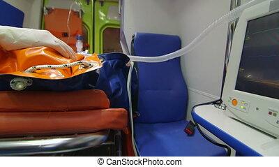 urgence, personne, fournir, monde médical, emt, ambulance, infirmier, avancé, soin