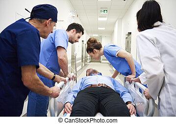 urgence, situation, hôpital