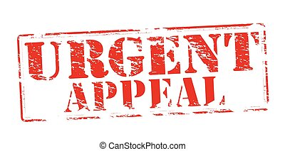 Urgent appeal - Rubber stamp with text urgent appeal inside,...