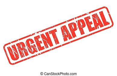 URGENT APPEAL red stamp text