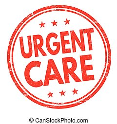 Urgent care grunge rubber stamp on white background, vector...