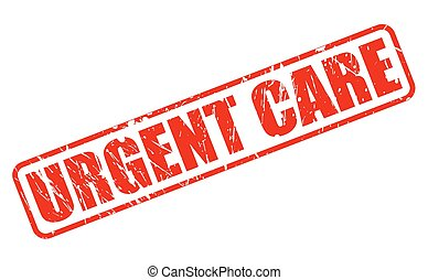 URGENT CARE red stamp text